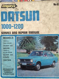Datsun 1200 Gregory's manual  Glenbrook Blue Mountains Preview