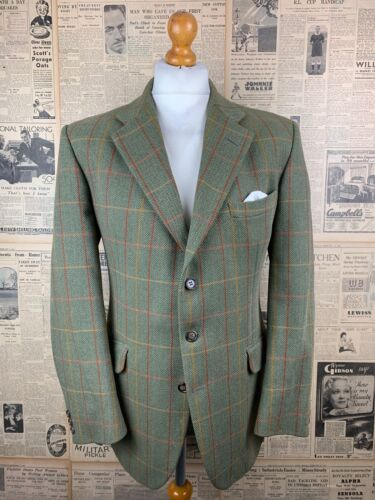 Vintage green Bladen checked tweed jacket size 42