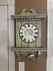 Vintage Wooden Antique Style Jaxton Pendulum Battery Operated Wall Clock