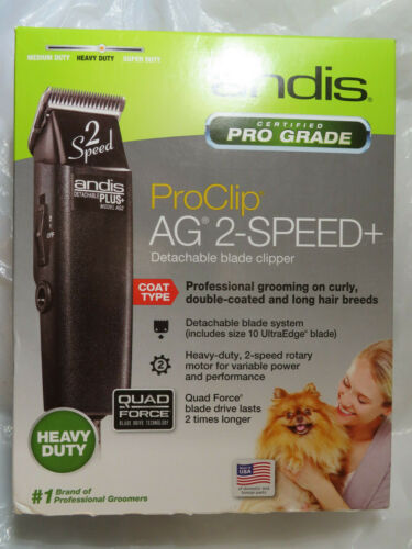 ANDIS AG2 HEAVY DUTY 22215 PRO CLIP 2 SPEED DETACHABLE BLADE CLIPPER BRAND NEW