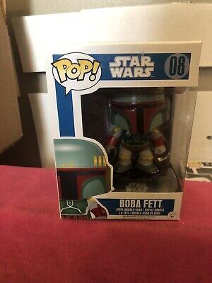 Funko Pop Star Wars Boba Fett #08 Blue Box Vaulted Rare