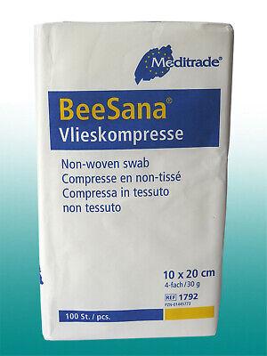 500 Vlies-Kompressen unsteril 4 -fach Verband 10 x 20cm Beesana Meditrade