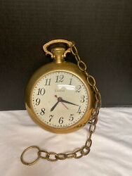Vintage United Clock Corp. Pocket Watch Wall Clock Model 370