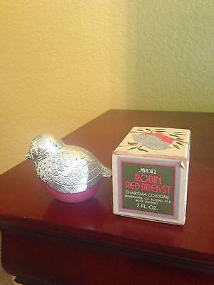 Avon Robin Red Breast Decanter - Charisma cologne- 1974