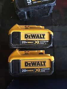 Dewalt 20v XR lithium ion batteries