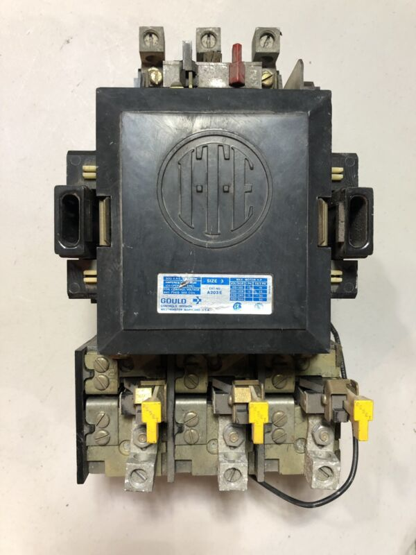 3 A203E ITE / GOULD SIZE 3 CONTACTOR 3 PHASE 120VAC COIL 100 AMP 600V STARTER