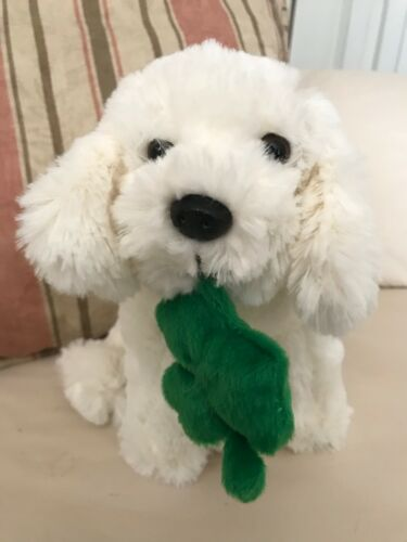 BICHON FRISE PUPPY DOG Shamrock Hand Crafted Beverly Hills Teddy Bear Co 2013
