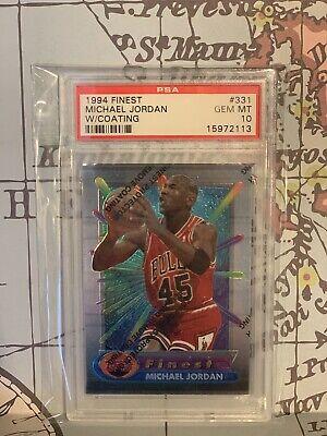 1994 Topps Finest Michael Jordan w/Coating PSA 10 Gem Mint #331