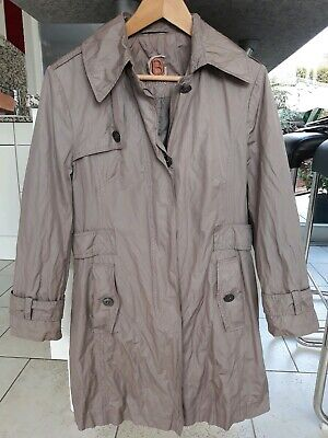 Gil Bret lässiger Designer Mantel Trenchcoat Jacke taupe 42 ()