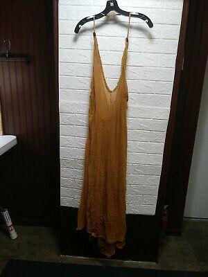 Caravana Womens Bolmay Cotton Gauze Long Dress VNeck Haulter Burnt Orange
