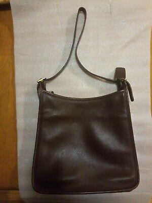 Coach Handbag 9073 Andrea Slim Hobo Brown Leather Vintage