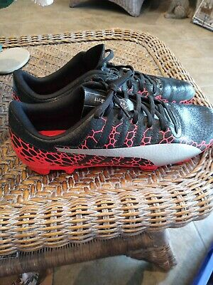 Puma Evopower 4 Football Boots Men Size 10 Black Red Silver moulded studs