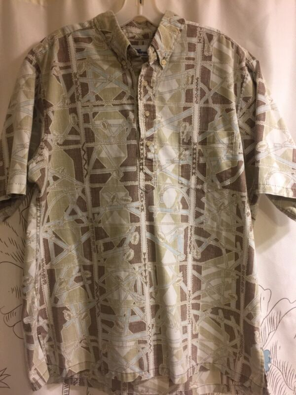 Vintage Reyn Spooner Polynesian Voyaging Society Navigation Pull Over Shirt Rare