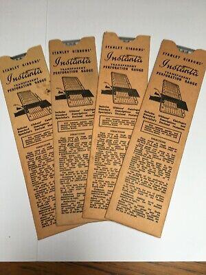 STANLEY GIBBONS INSTANTA PERFORATION GAUGE, ITEM No. 2534, CARD CASE