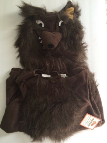 POTTERY BARN KIDS WEREWOLF WOLF HALLOWEEN COSTUME BOY ANIMAL + TREAT BAG  7-8