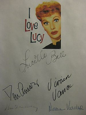 I Love Lucy Signed TV Script X5 Lucille Ball Desi Arnaz Vivian Vance Frawley rpt