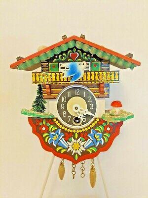 German Cuckoo Clock Vintage 6 In Colorful Clock Not Working Parts Repair