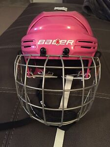 Bauer pink helmet and cage BHN1800JR