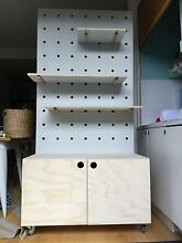 Plywood Peg Wall Shelving & Storage Unit North Melbourne Melbourne City Preview