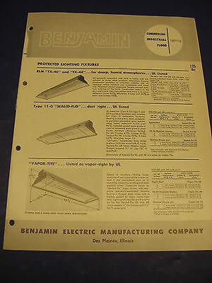 BENJAMIN ELECTRIC Mfg. ASBESTOS Gaskets Light Fixtures