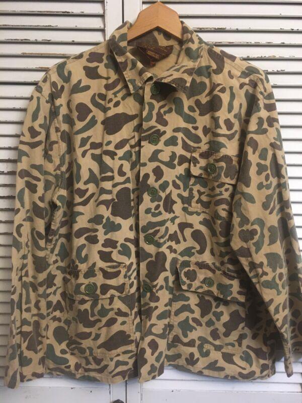 Vintage Caliber Sportsman's Apparel Cotton/Ramie Blend Camo Hunting Shirt Men M