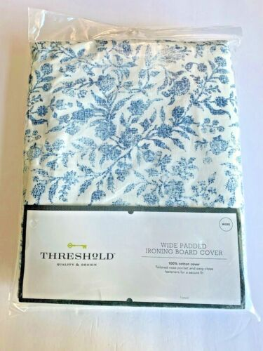 Threshold Wide Padded Ironing Board Cover 100% Cotton - Blue & White Floral