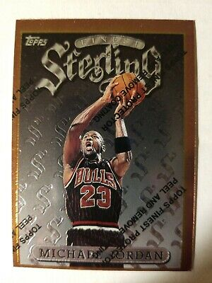 1996 Topps Finest Sterling Michael Jordan With Coating Card #50 Chicago Bulls