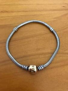 Genuine 19 cm Pandora 14K gold clasp bracelet Kincumber Gosford Area Preview