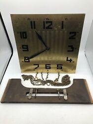 Nice Antique German Kieninger AJK Art Deco  Grandfather Clock Movement