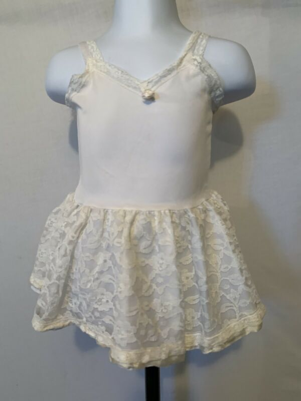 Infant Toddler Girl Vintage Ivory Slip Crinoline Petticoat Queensbury 12m Sheer