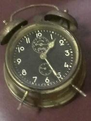 Very Old Black Faced Bradley Bell Ringing Alarm Clock