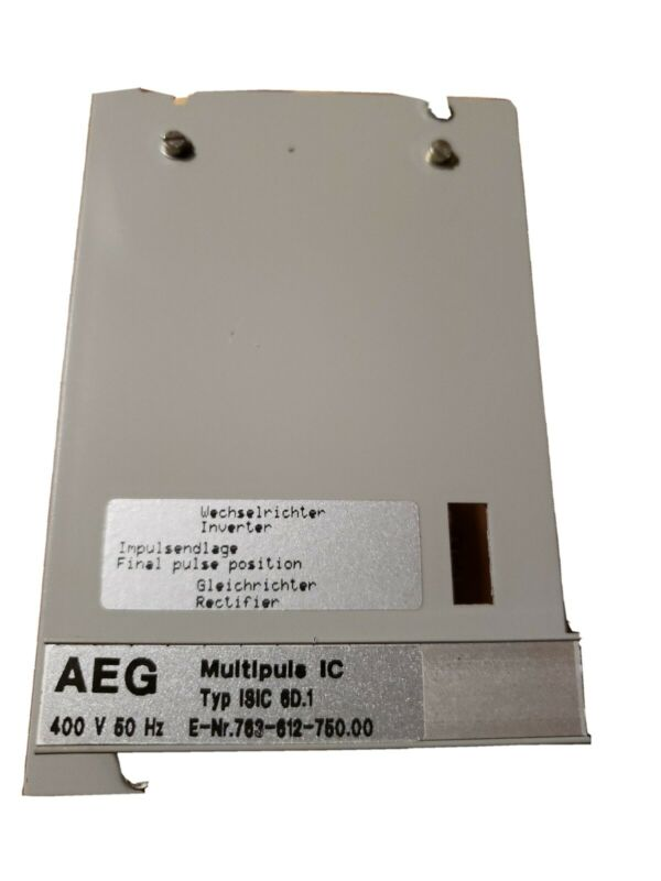 AEG Multipuls IC ISIC 6D.1 Controller 763-612-750.00     New Old Stock