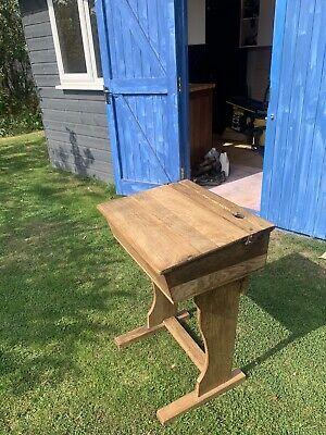 Old School Oak Sloping Desk