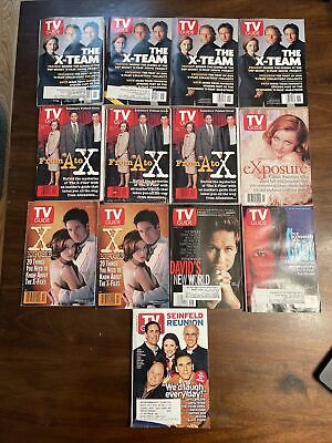 Lot Of 12 X-Files TV Guides - David Duchovny Gillian Anderson and 1 Seinfeld