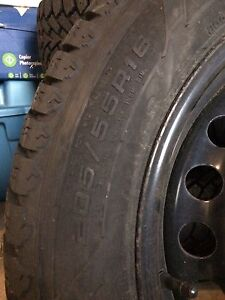Winter tires on rims, mint condition St. John's Newfoundland image 2