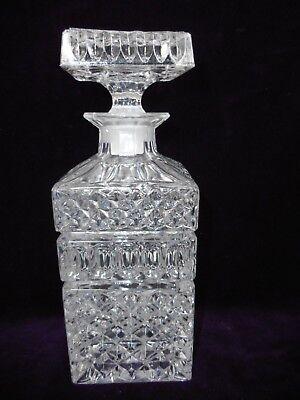 schwere Whisky-Karaffe - Kristallglas mit Einschliff