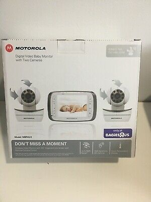 Motorola Digital Video Baby Monitor with Two Camera MBP43/2 Used  Read Below