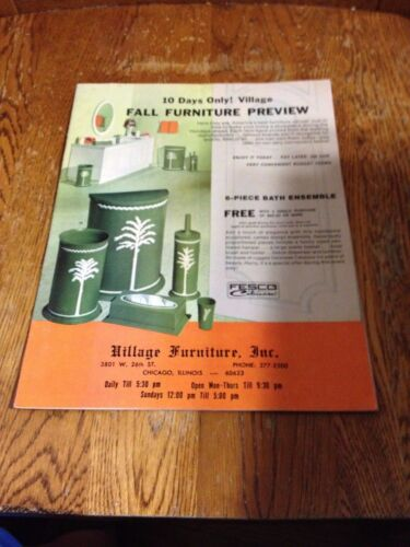 Village Furniture (3801 W. 26th Street Chicago, Illinois 60623) Old Catalog -Wow