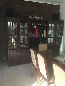 Dining table with  8 chairs including 4 Wall Units. Greenvale Hume Area Preview