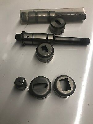 Lot Of 2  Amada Strippit Punch And Die Sets Rectangle