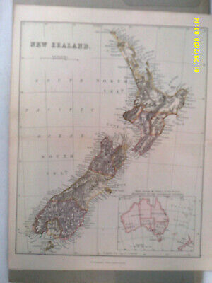 Antique Map. NEW ZEALAND.  Pub'd Wm. Mackenzie. Undated. c1880.