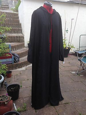 oversized black Crushed Velvet   hooded cloak with sleeves. 148 cm approx (Black Hooded Cloak With Sleeves)