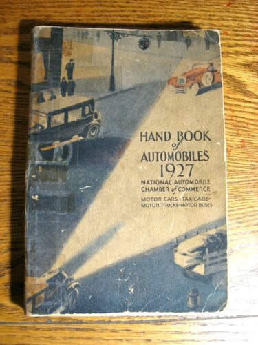 1927 Handbook of Automobiles Hand Book Auburn Buick Cadillac DeSoto Packard
