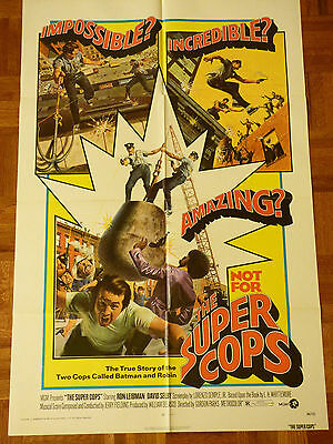 THE SUPER COPS ORIGINAL 1974 ONE SHEET MOVIE POSTER RON LEIBMAN DAVID SELBY