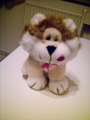 Stofftier Löwe groß neu gelb-weiß kuscheltier ()