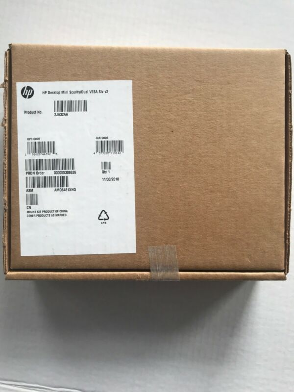 New HP Desktop Mini Security Dual Vesa Mounting Bracket Sleeve v2 - 2JA32AA