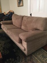 2 X 3 seater Beautiful Warwick Microsuede Couches Claremont Nedlands Area Preview