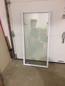 CLEAR GLASS DOOR INSERT - great for the handyman!!