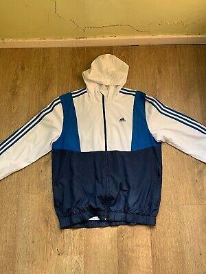 adidas windbreaker jacket size medium mens
