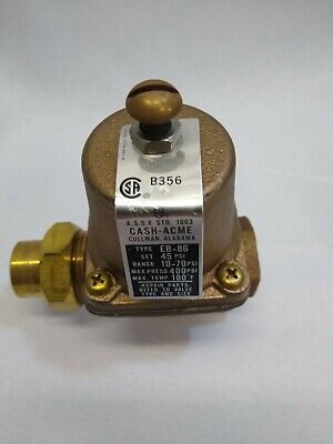 Cash Acme Eb-86u - 1 Water Pressure Reducing Valve Regulator 17267-0045 Set 45